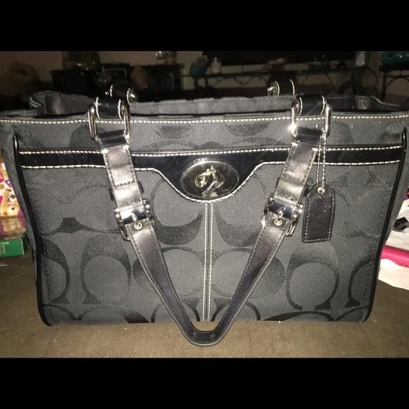 Coach Handbags - CYBER MONDAY ONLY Coach Black Hampton satchel d987251e9cf2f